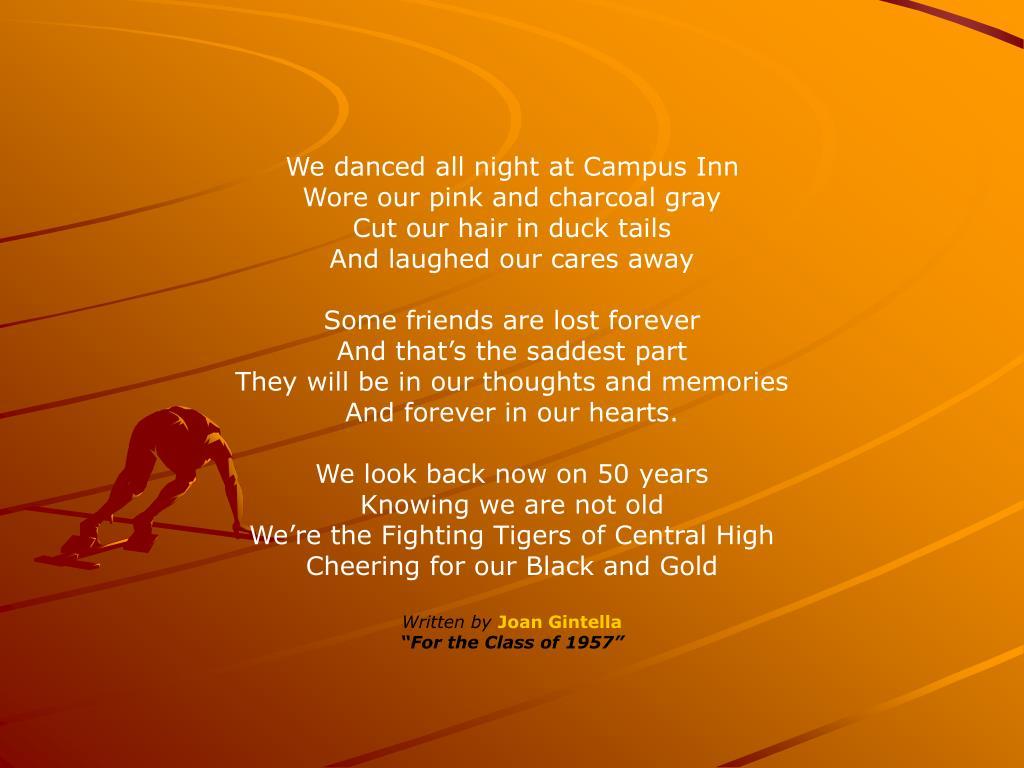 We danced all night at Campus Inn
