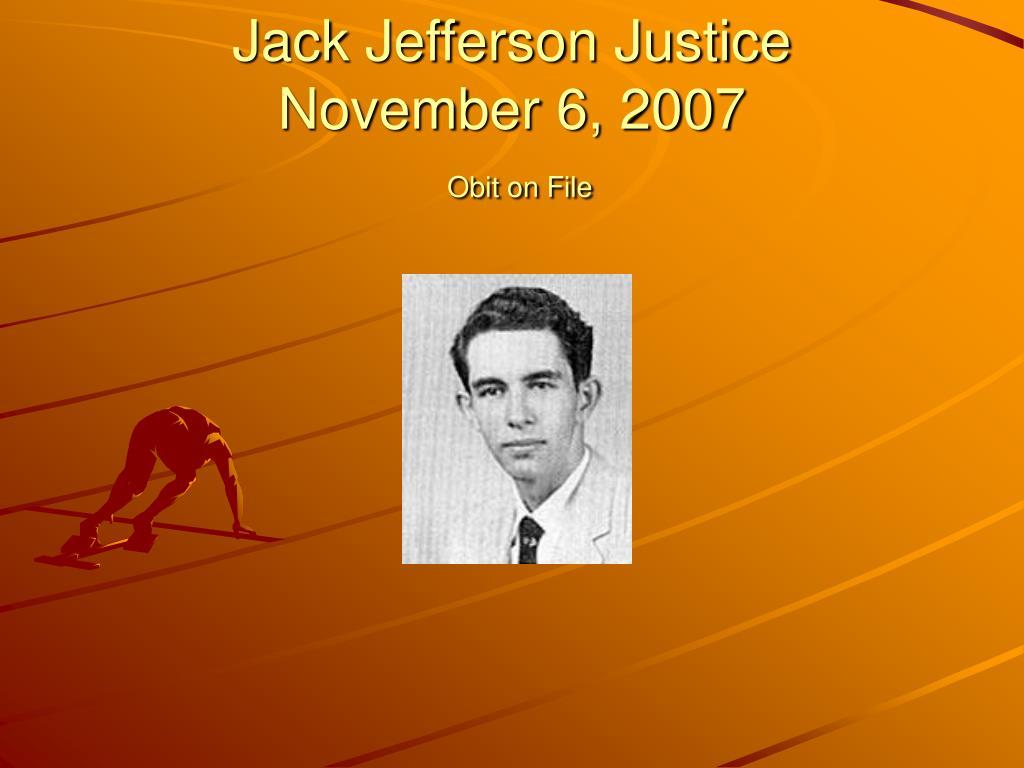 Jack Jefferson Justice