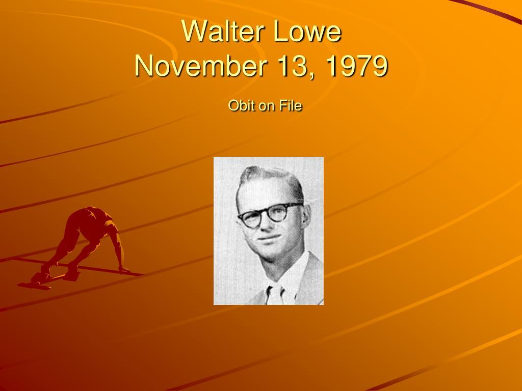 Walter Lowe
