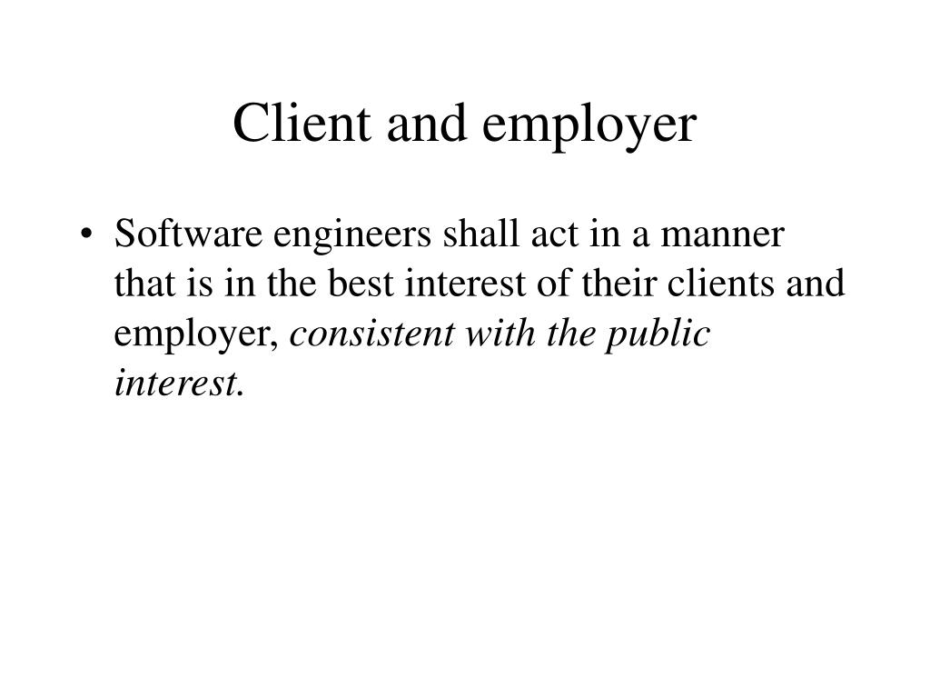 Client and employer