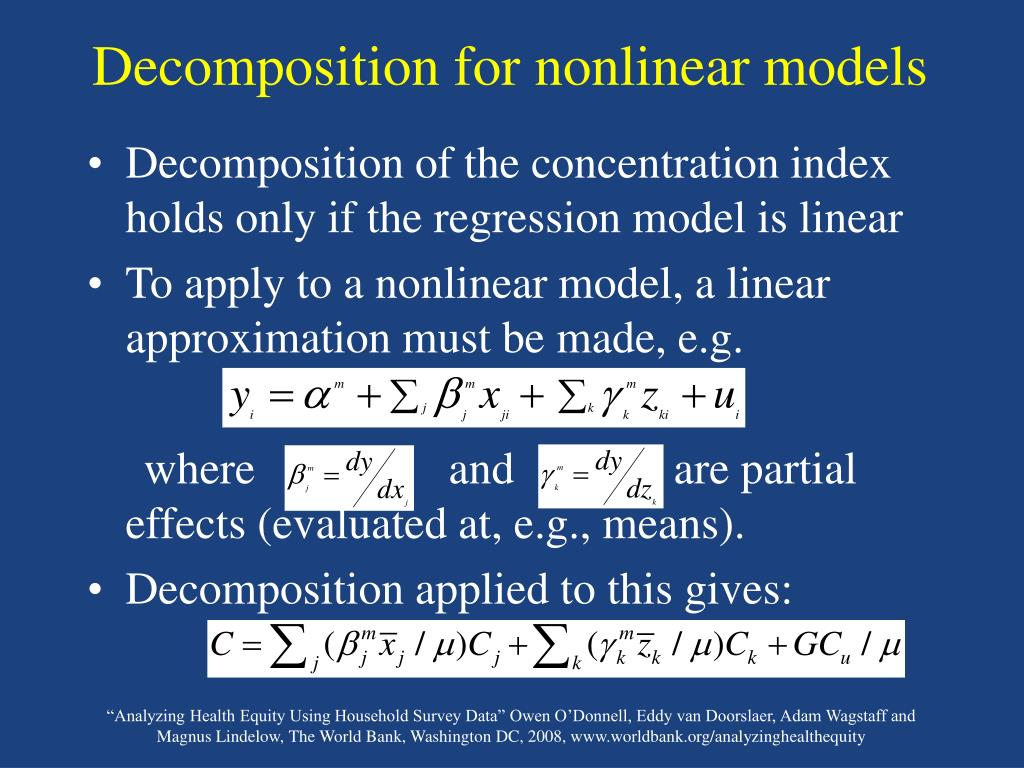 Decomposition for nonlinear models