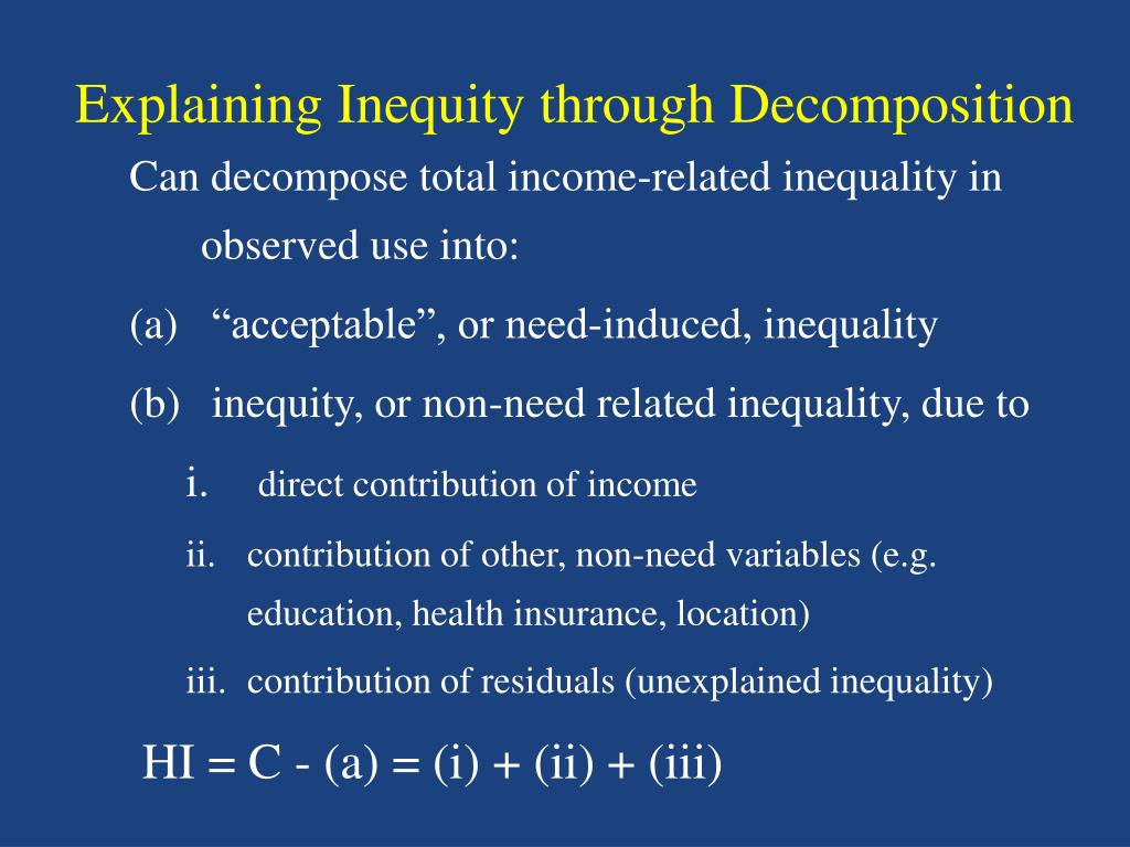 Explaining Inequity through Decomposition
