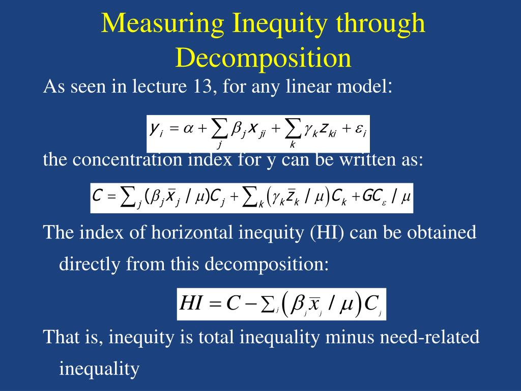 Measuring Inequity through Decomposition