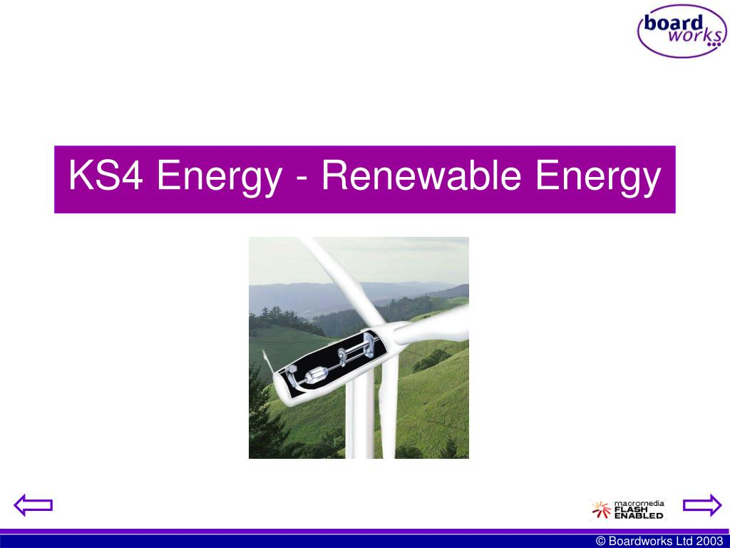 KS4 Energy - Renewable Energy