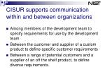 cisur supports communication within and between organizations