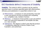 iso standards define 3 measures of usability