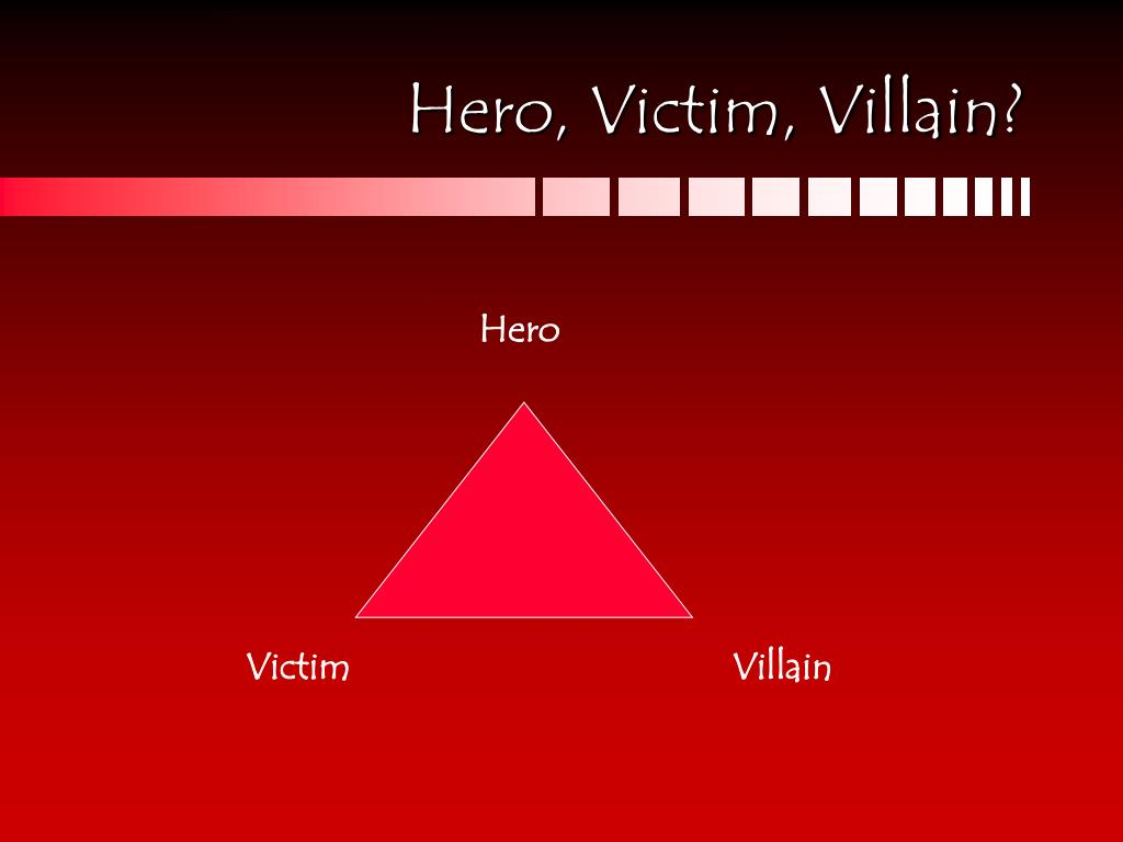Hero, Victim, Villain?