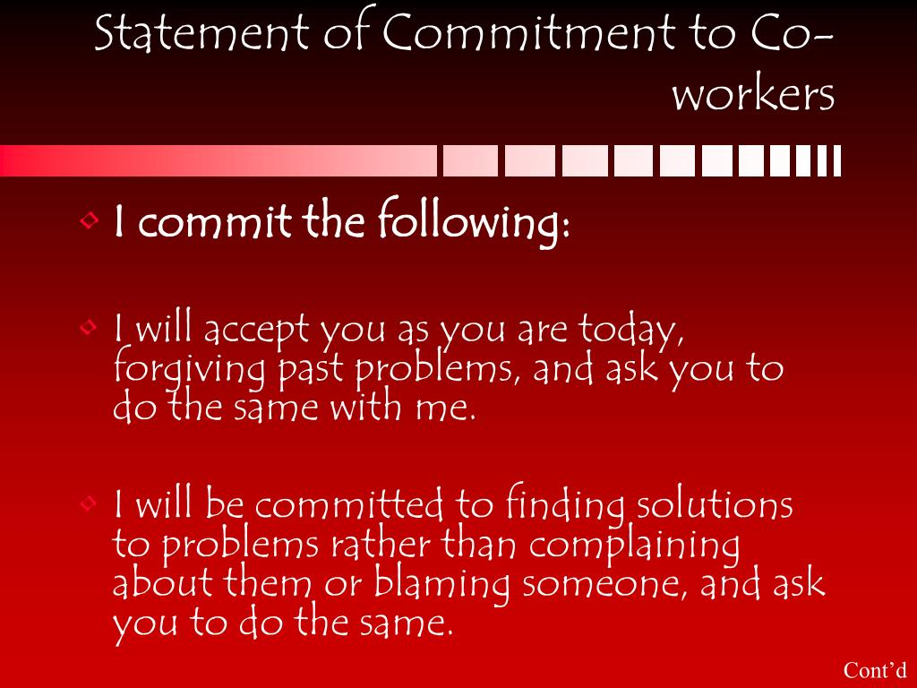 Statement of Commitment to Co-workers