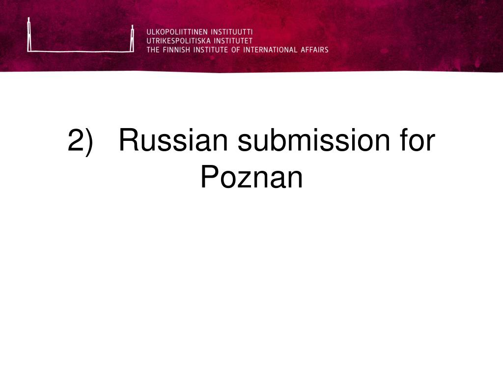 2)Russian submission for Poznan