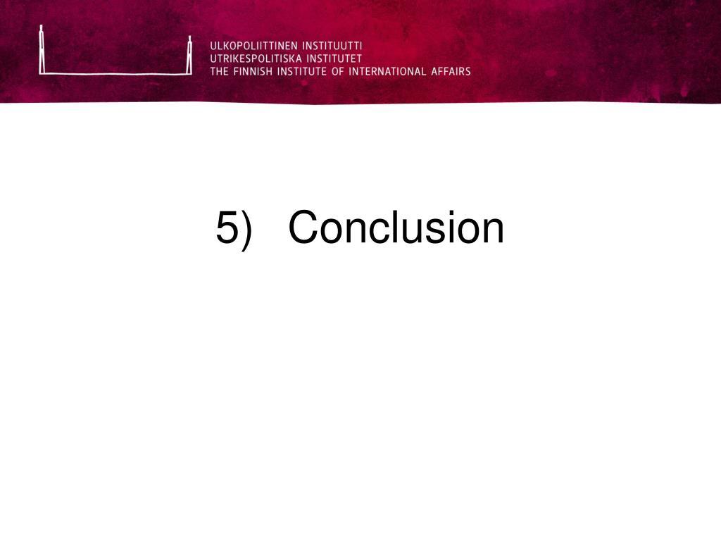5)Conclusion