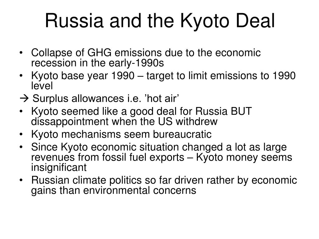 Russia and the Kyoto Deal