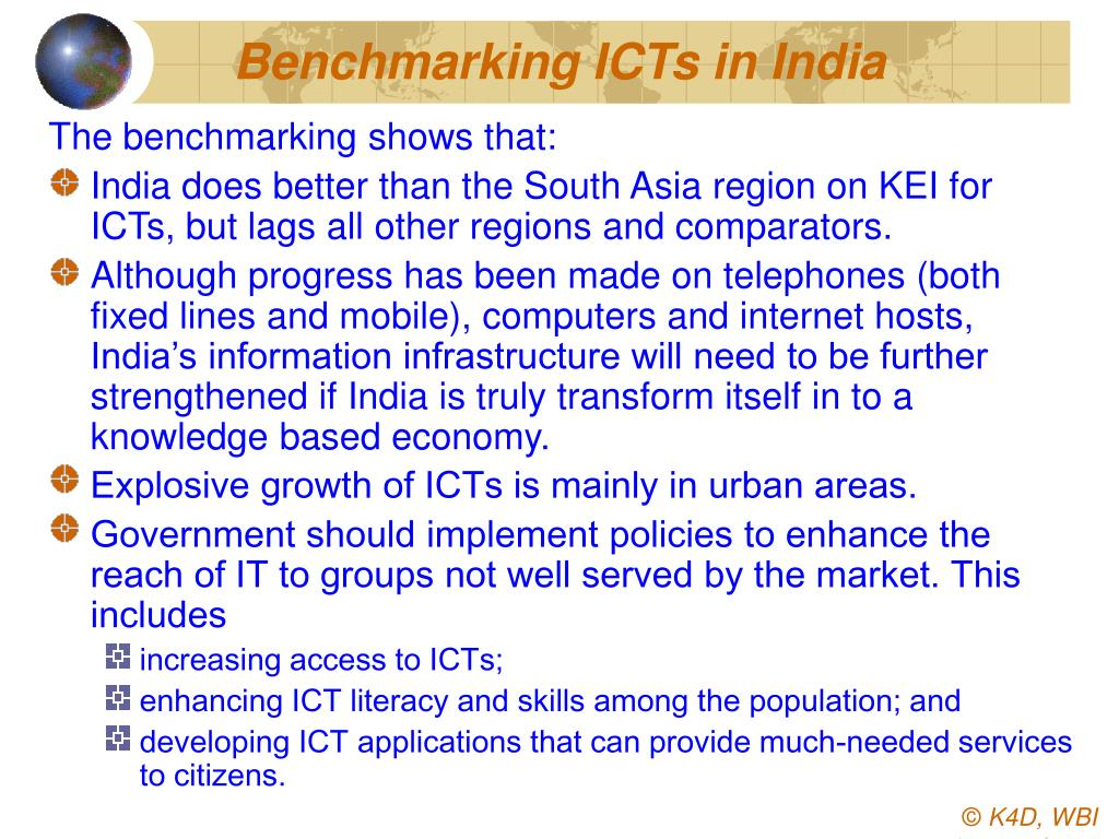 Benchmarking ICTs in India