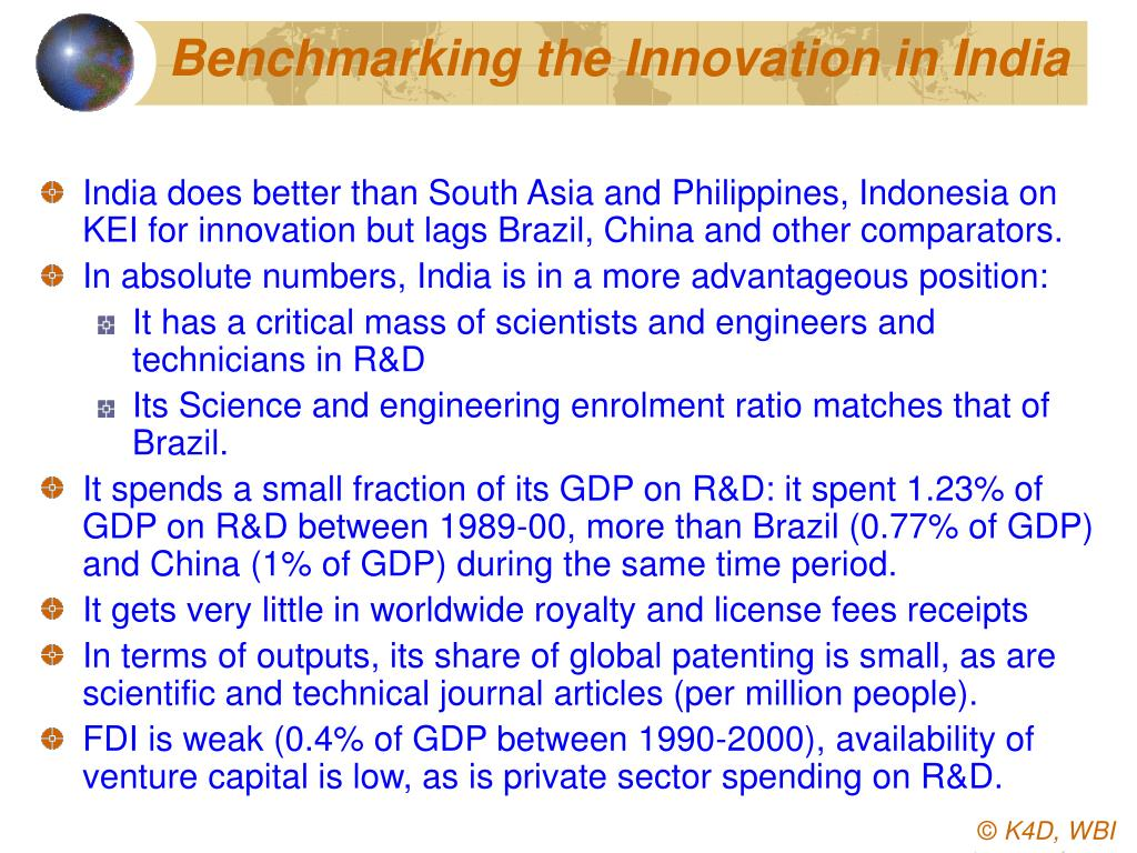 Benchmarking the Innovation in India