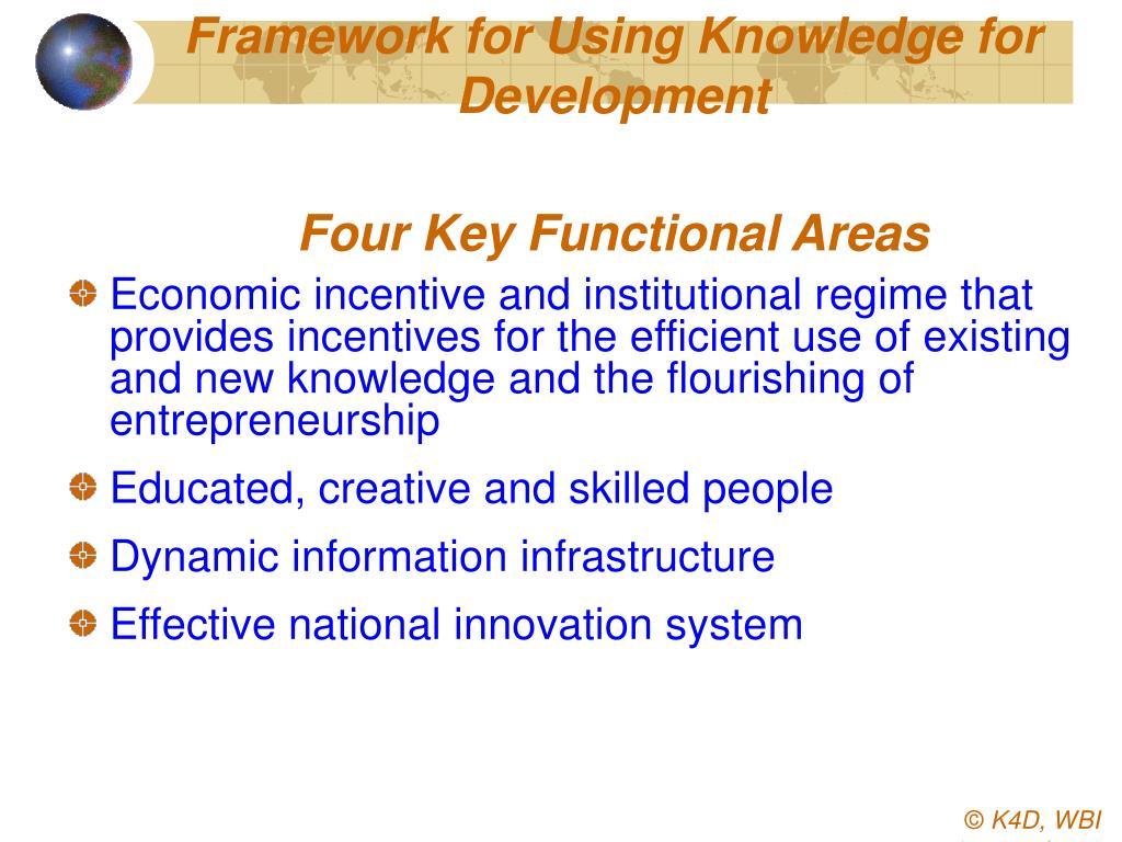 Framework for Using Knowledge for Development