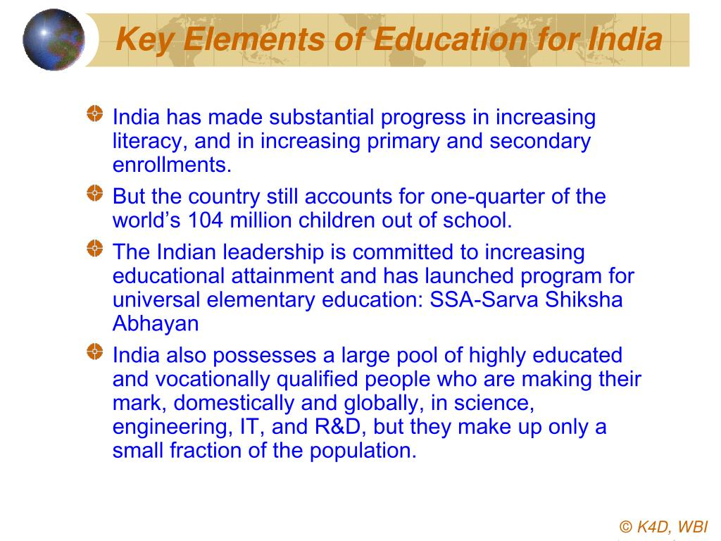 Key Elements of Education for India