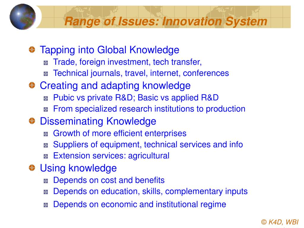 Range of Issues: Innovation System