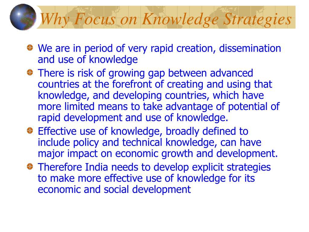 Why Focus on Knowledge Strategies
