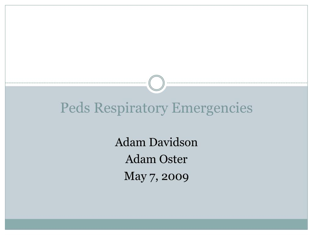 peds respiratory emergencies l.