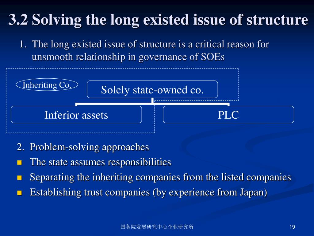 3.2 Solving the long existed issue of structure