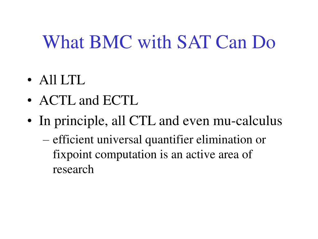 What BMC with SAT Can Do