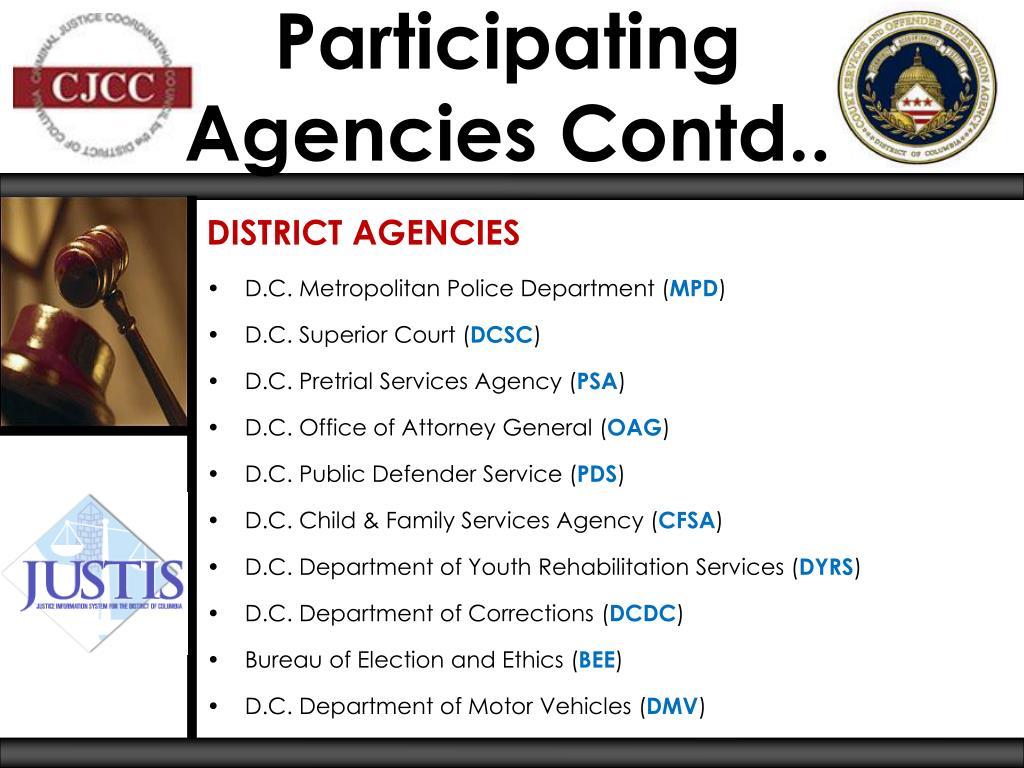 Participating Agencies Contd..