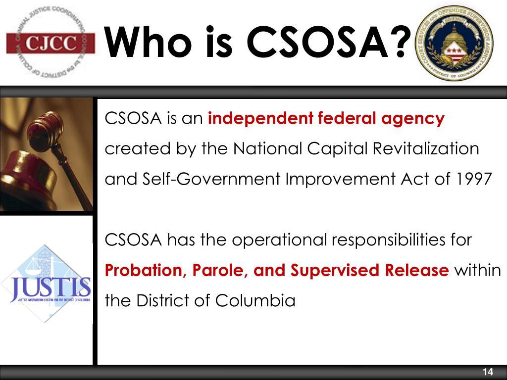 Who is CSOSA?