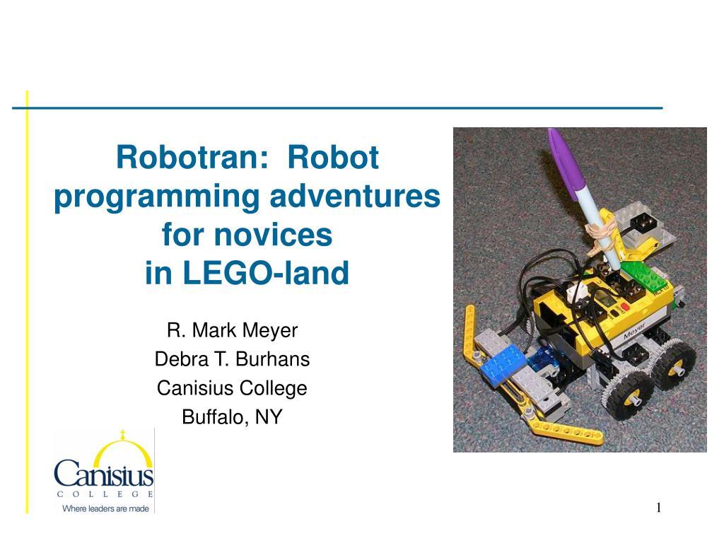 robotran robot programming adventures for novices in lego land l.