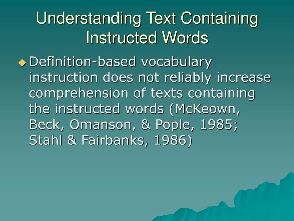 Understanding Text Containing Instructed Words