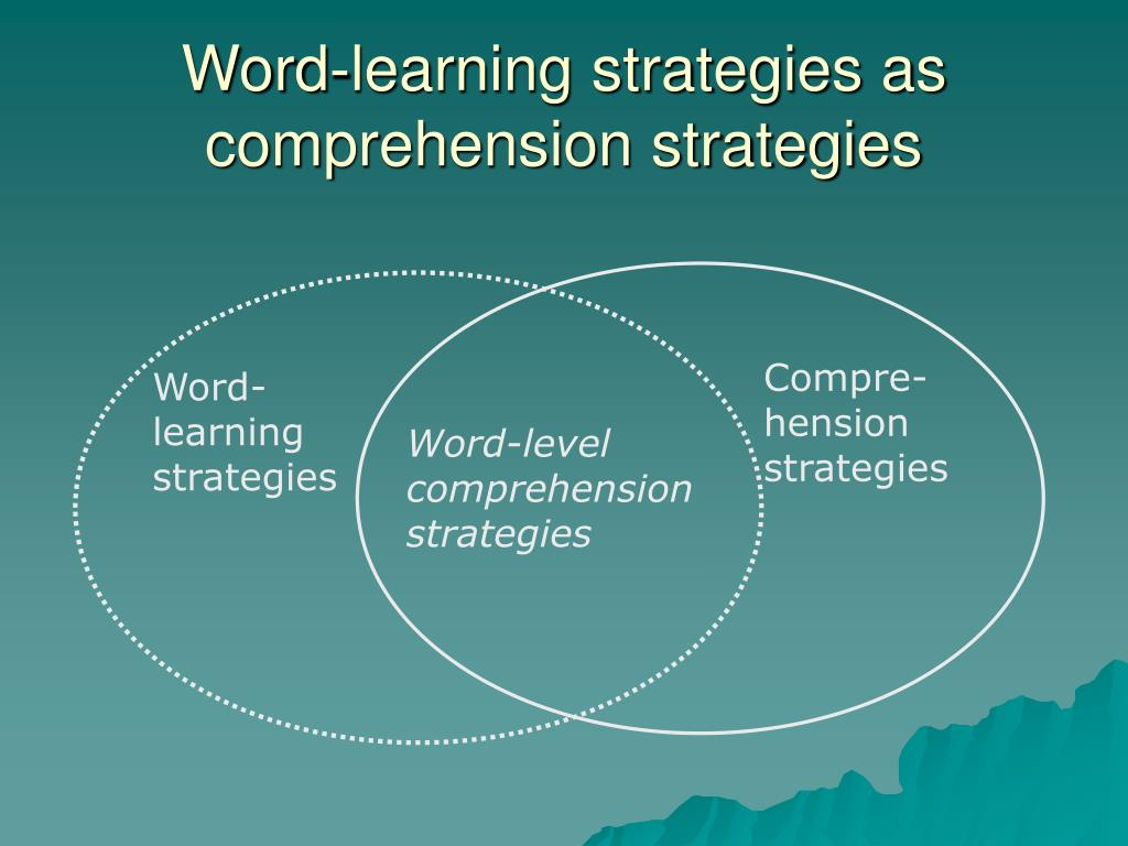 Word-learning strategies as comprehension strategies