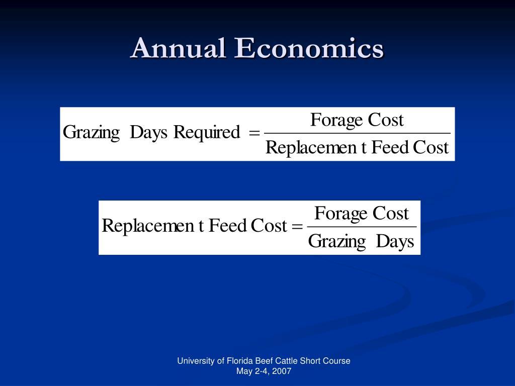 Annual Economics
