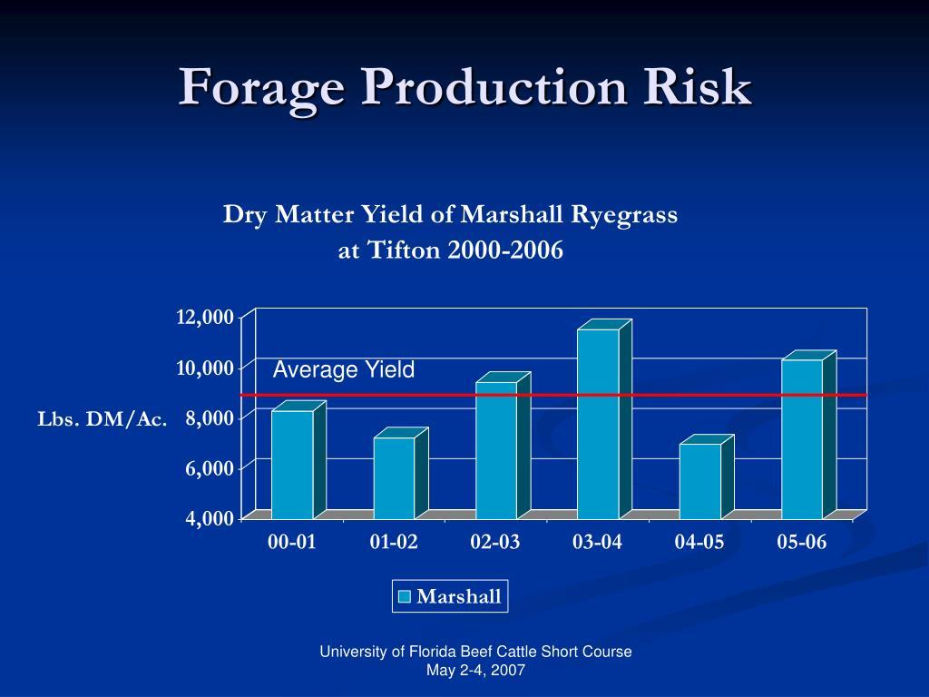 Average Yield