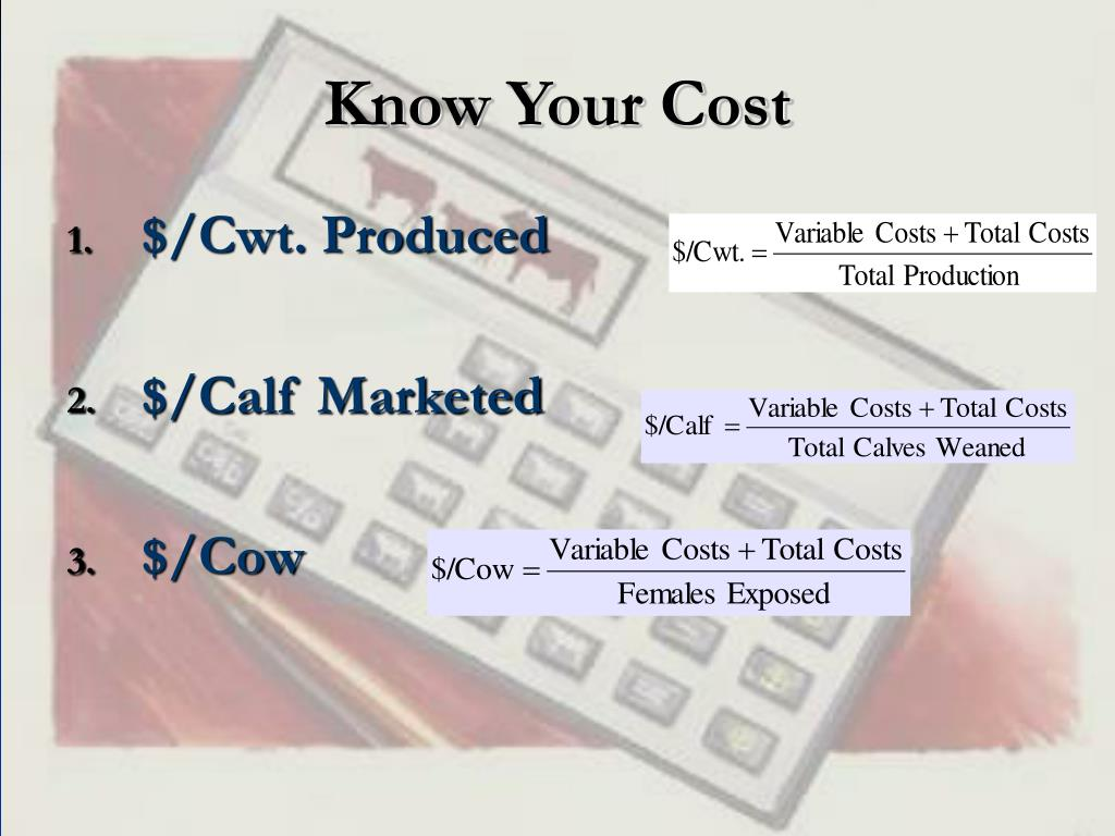 Know Your Cost