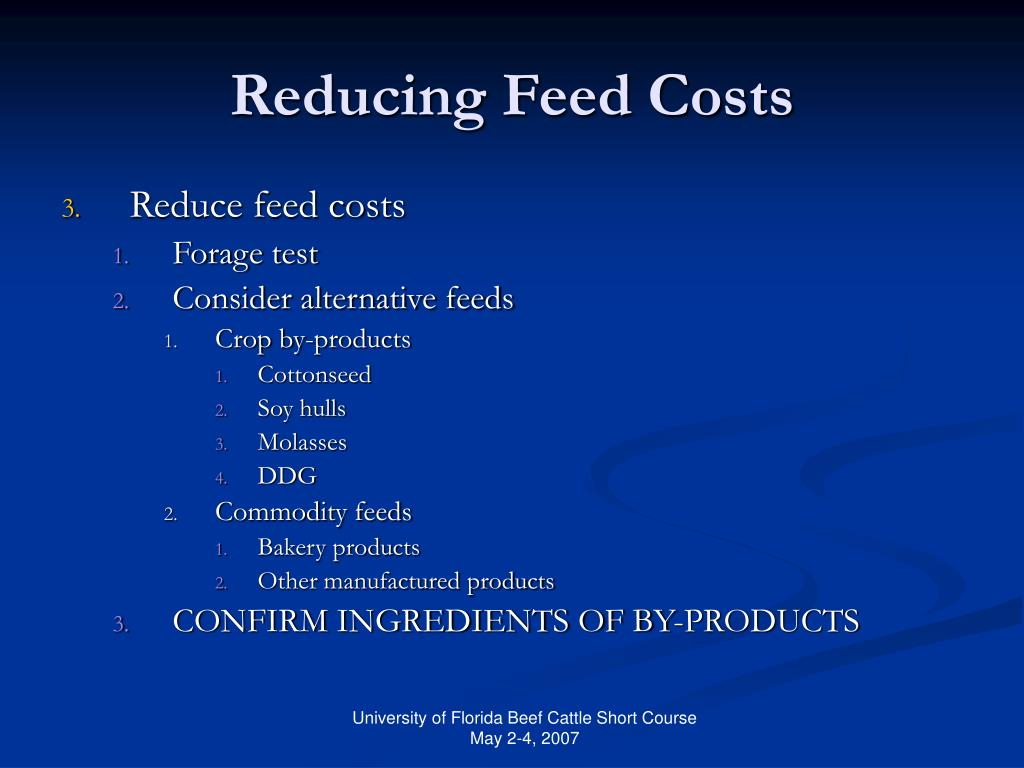 Reducing Feed Costs