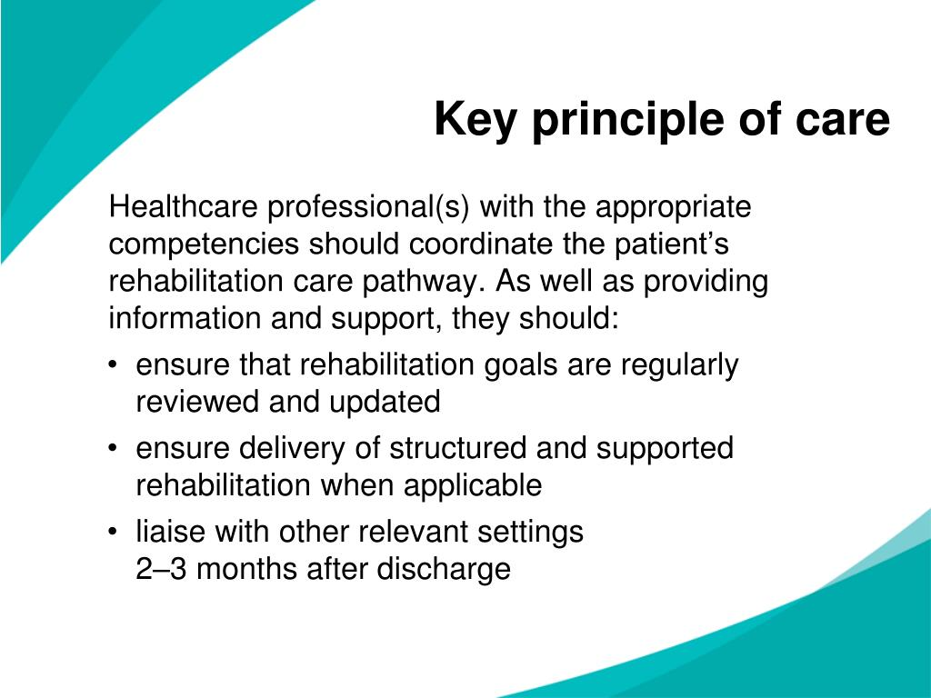 Key principle of care