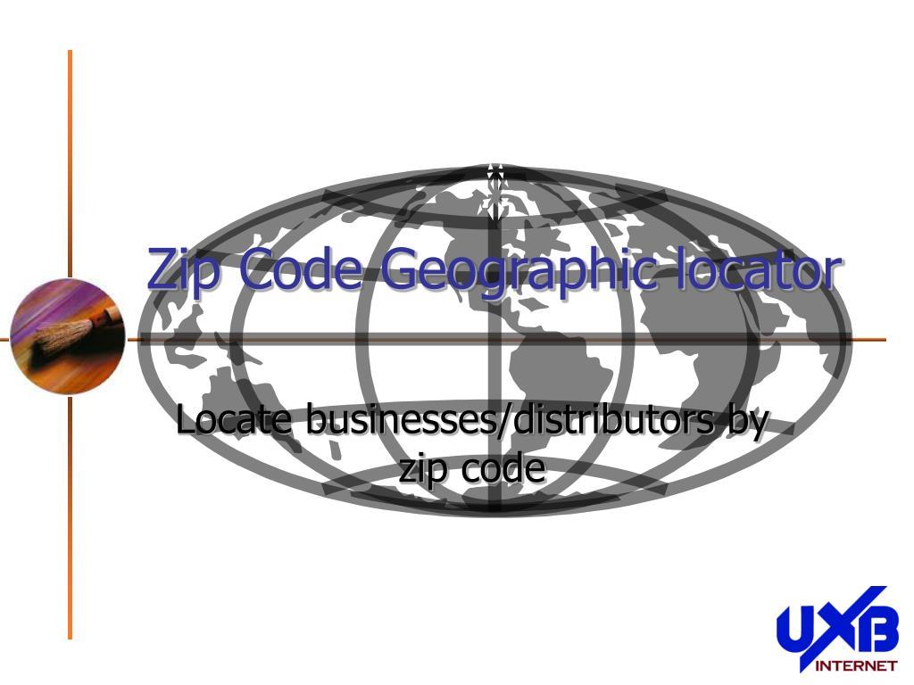 zip code geographic locator
