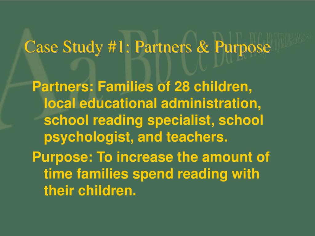 Case Study #1: Partners & Purpose