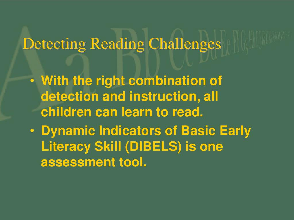 Detecting Reading Challenges