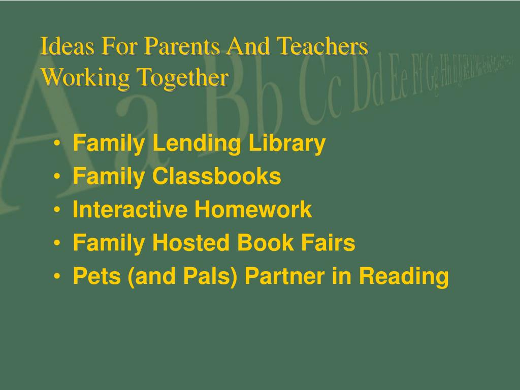 Ideas For Parents And Teachers