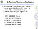 delegation of contract administration
