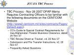 jcc i a tbc process