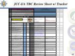 jcc i a tbc review sheet w tracker