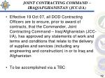 joint contracting command iraq afghanistan jcc i a
