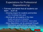 expectations for professional dispositions 1g