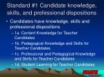 standard 1 candidate knowledge skills and professional dispositions