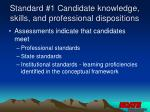 standard 1 candidate knowledge skills and professional dispositions10