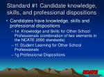 standard 1 candidate knowledge skills and professional dispositions9
