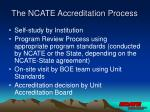 the ncate accreditation process