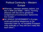 political continuity western europe