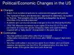political economic changes in the us