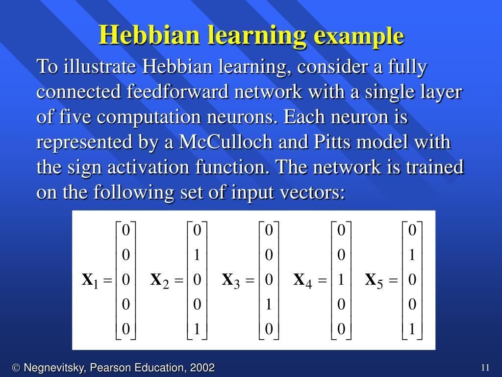 Hebbian learning e